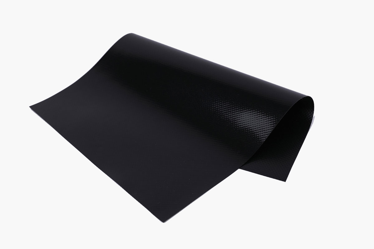 Black tarpaulin supports customization